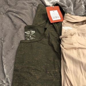 Bundle of 3 tanks white, nude and olive